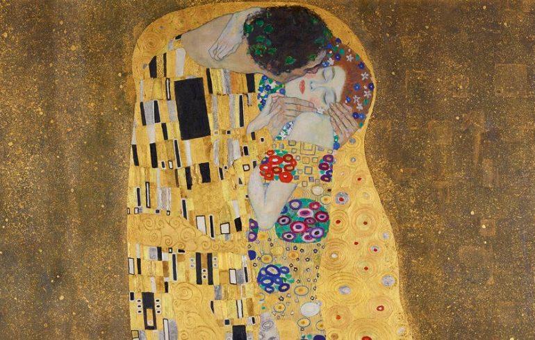 """Gustavs Klimts """"Skūpsts"""" (1908)"""